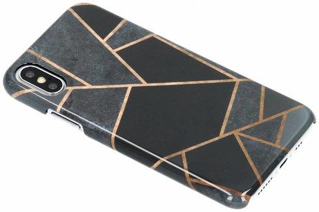 Passion Backcover voor iPhone X / Xs - Grafisch Zwart / Koper