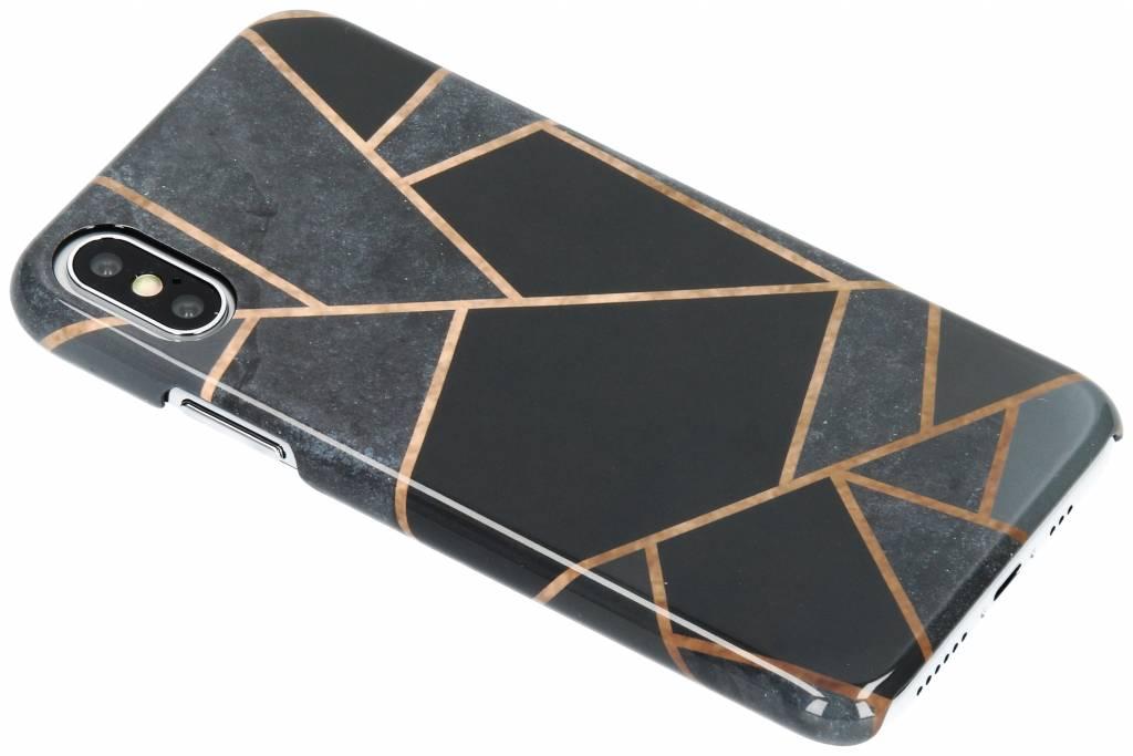 Selencia Black Graphic Passion Hard Case voor de iPhone Xs / X