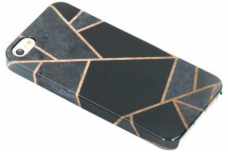 Passion Backcover voor iPhone SE / 5 / 5s - Grafisch Zwart / Koper