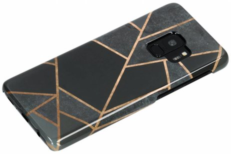 Passion Backcover voor Samsung Galaxy S9 - Grafisch Zwart / Koper