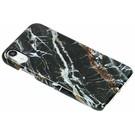 Passion Backcover voor iPhone Xr - Marmer Zwart