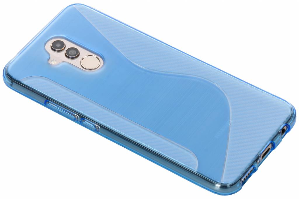 Blauw S-line TPU hoesje voor de Huawei Mate 20 Lite