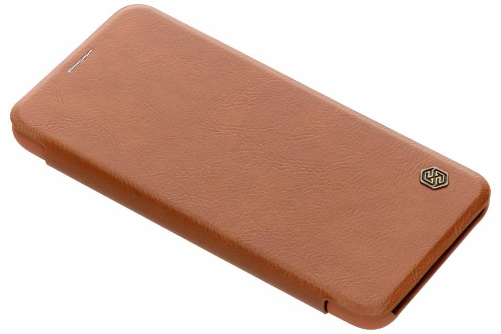 Nillkin Qin Leather Slim Booktype voor Huawei Mate 20 Lite - Bruin