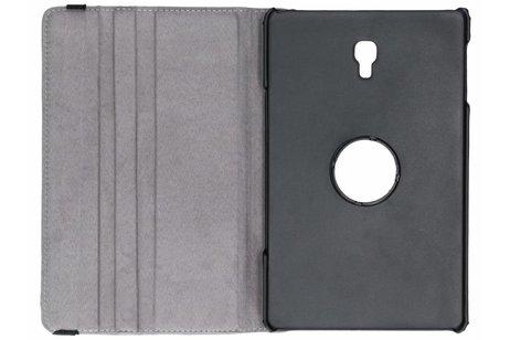 360° Draaibare Design Bookcase voor Samsung Galaxy Tab A 10.5 (2018) - Bloemen Goud