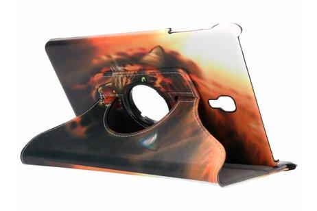 360° Draaibare Design Bookcase voor Samsung Galaxy Tab A 10.5 (2018) - Tijger