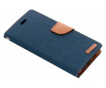 Mercury Goospery Blauw Canvas Diary Case Huawei P20 Pro