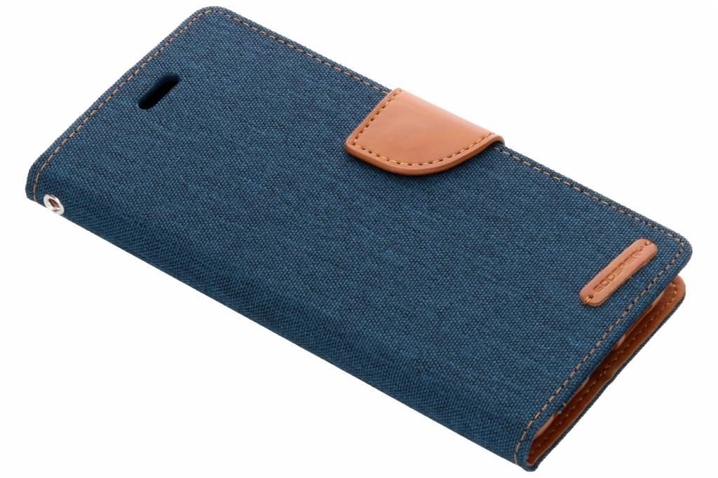 Mercury Goospery Blauwe Canvas Diary Case voor de Huawei P20 Pro