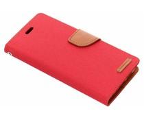 Mercury Goospery Rood Canvas Diary Case Huawei P20 Pro