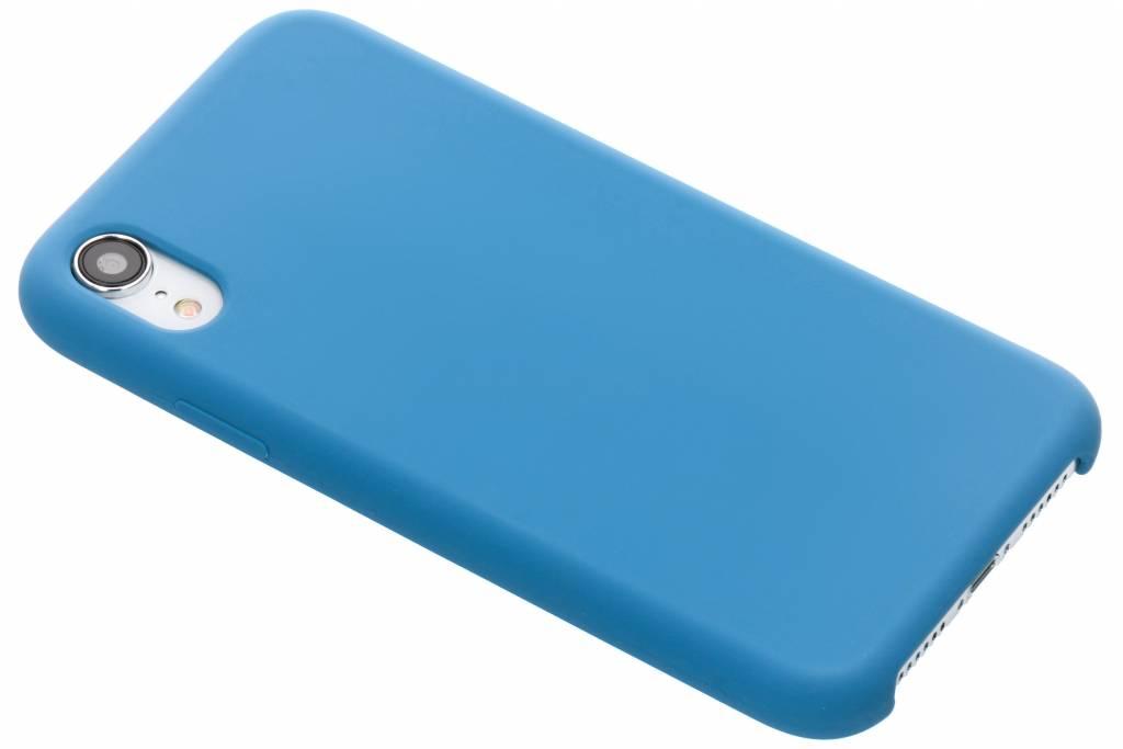 Blauwe soft touch siliconen case voor de iPhone Xr