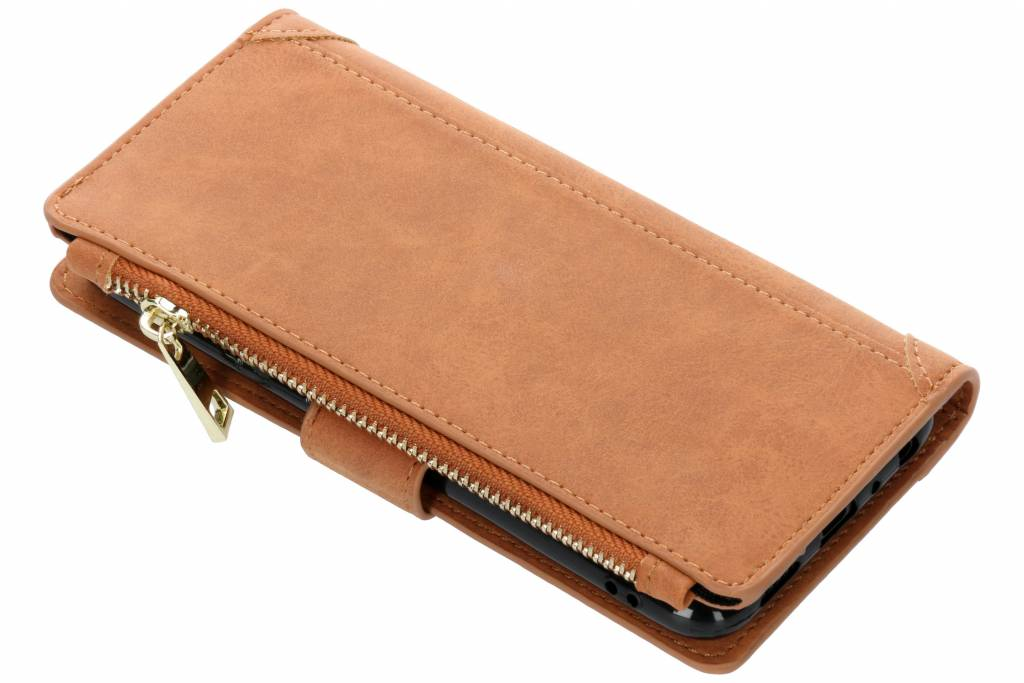 Bruine luxe portemonnee hoes voor de Huawei P Smart