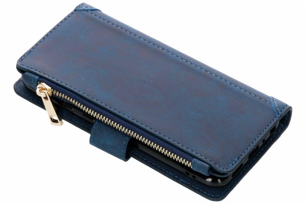 Blauwe luxe portemonnee hoes voor de Huawei P Smart