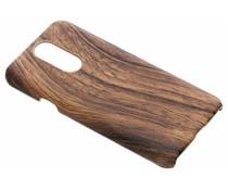 Donkerbruin hout design hardcase hoesje LG Q7