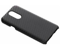 Zwart carbon look hardcase hoesje LG Q7
