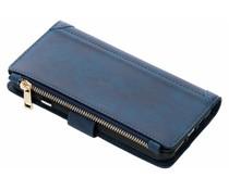 Blauw luxe portemonnee hoes iPhone Xs Max