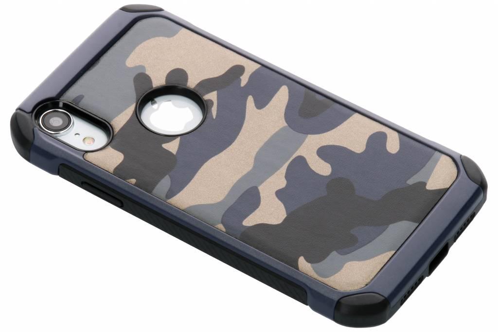 Blauw army defender hardcase hoesje voor de iPhone Xr