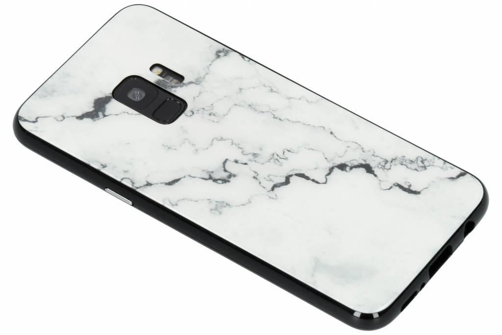 Selencia Wit marmer design magnetisch hoesje voor de Samsung Galaxy S9