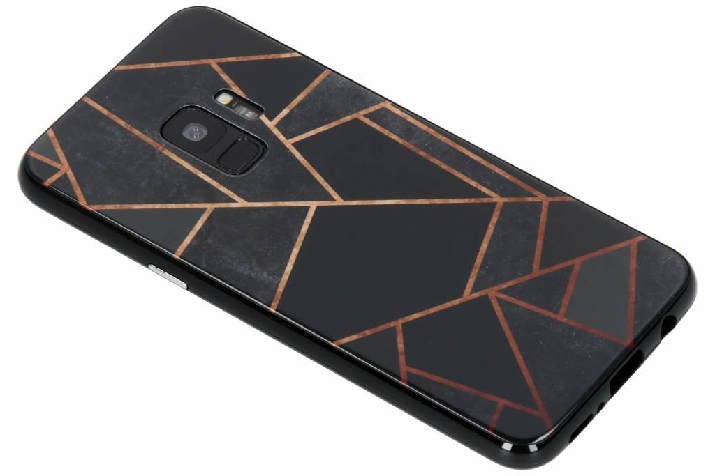 Selencia Zwart grafisch design magnetisch hoesje voor de Samsung Galaxy S9
