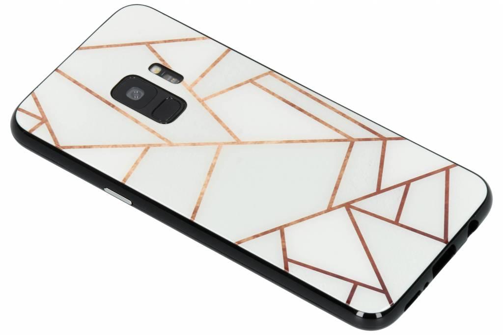 Selencia Wit grafisch design magnetisch hoesje voor de Samsung Galaxy S9