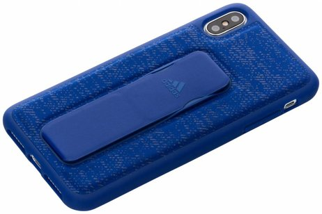 adidas Sports Grip Backcover voor iPhone Xs Max - Blauw