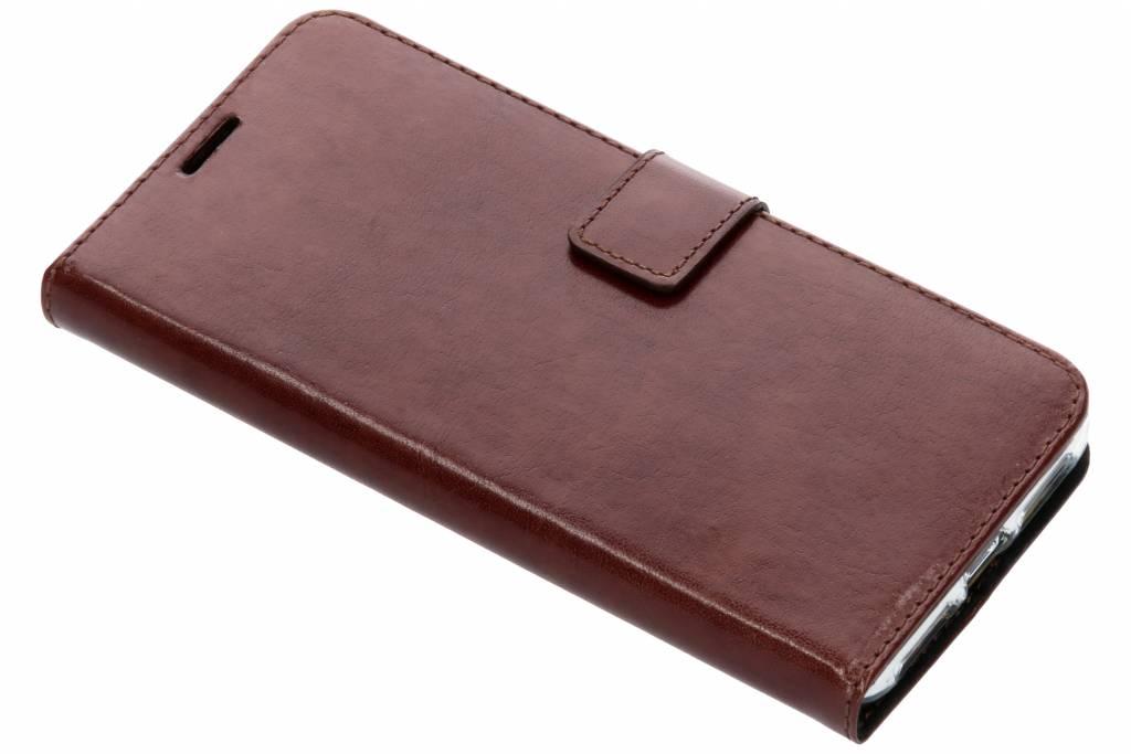 Valenta Leather Booktype voor iPhone Xs Max - Bruin