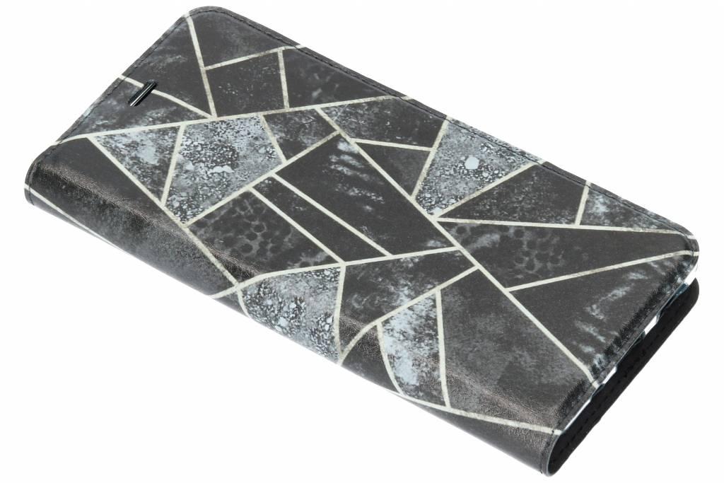 Grijs Grafisch Design TPU Bookcase voor de Nokia 5.1
