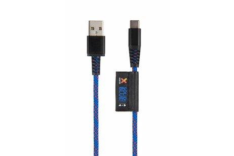 Xtorm Solid Blue USB-C naar USB kabel - 1 meter