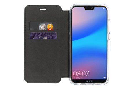 Accezz Xtreme Wallet Booktype voor Huawei P20 Lite - Donkerblauw