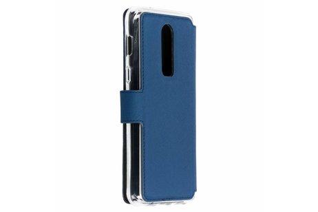 Accezz Xtreme Wallet Booktype voor OnePlus 6 - Donkerblauw