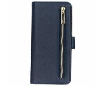 Donkerblauw luxe booktype met rits Huawei Mate 20 Lite