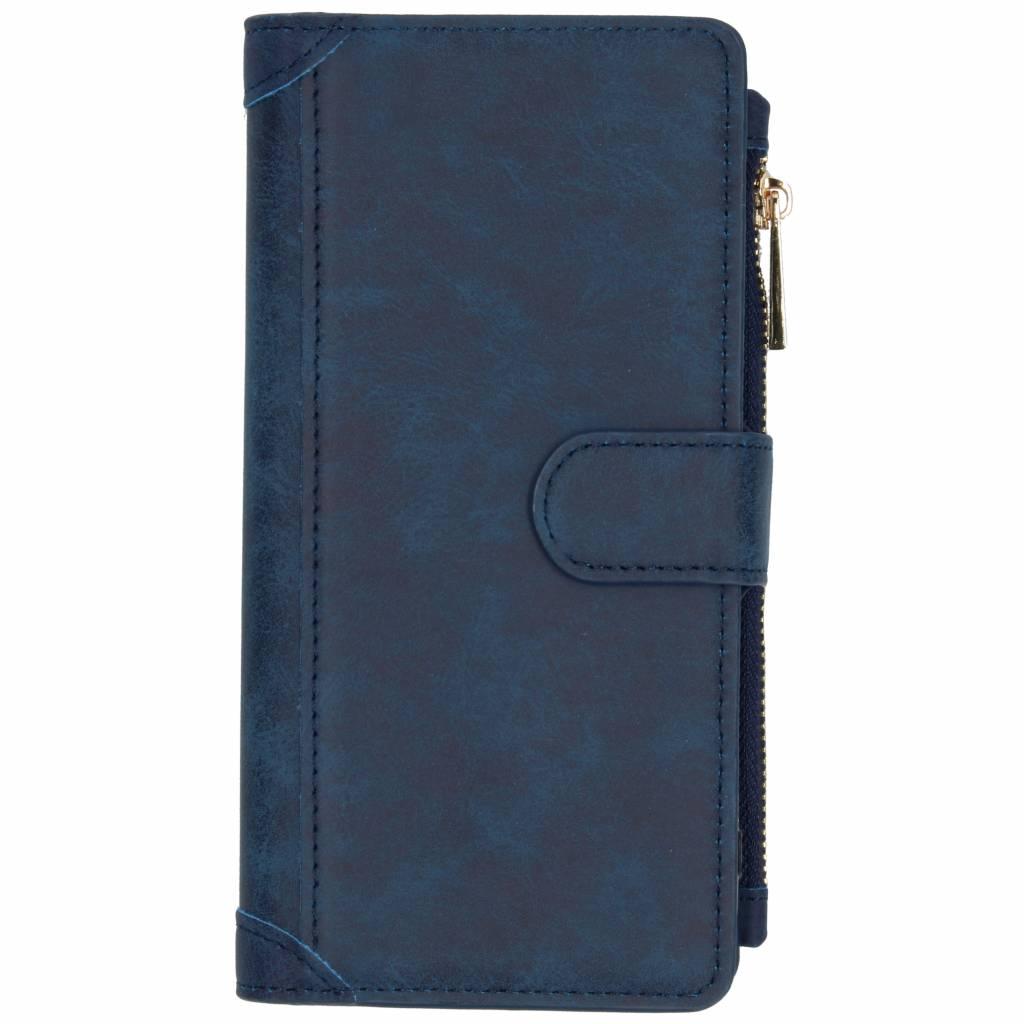Luxe Portemonnee voor Samsung Galaxy J4 Plus - Donkerblauw