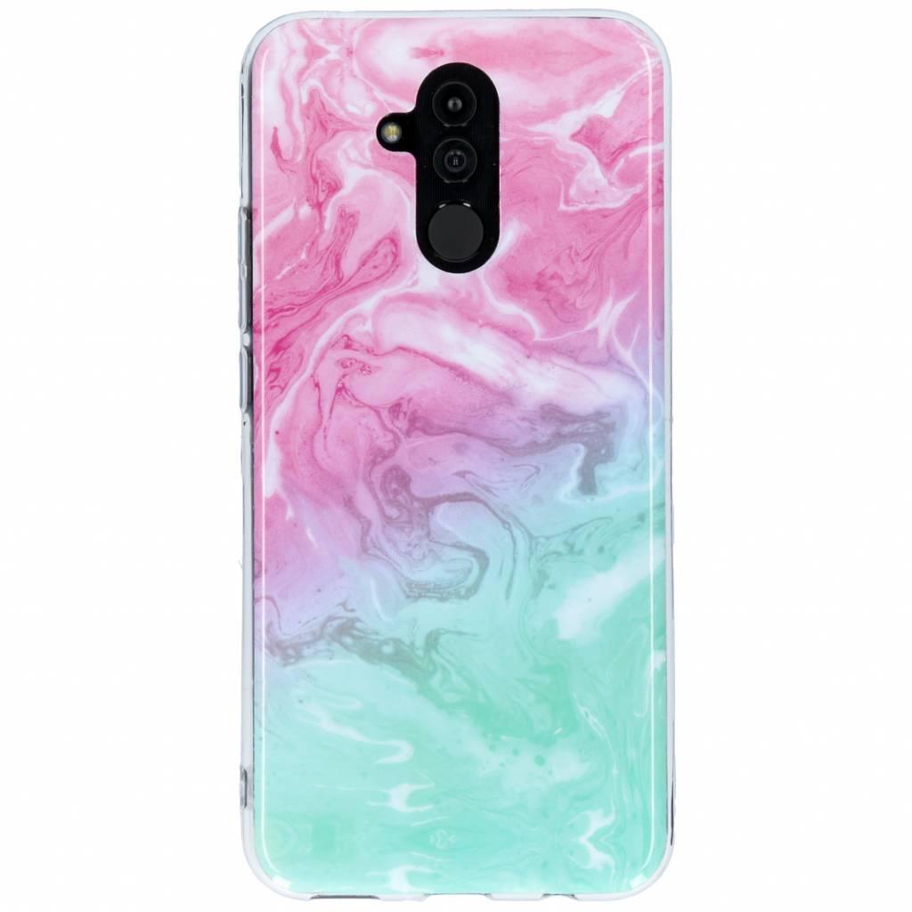 Design Backcover voor Huawei Mate 20 Lite - Gradient Roze / Groen
