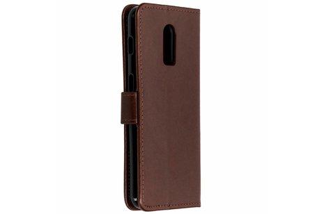 OnePlus 6T hoesje - Klavertje Bloemen Booktype voor
