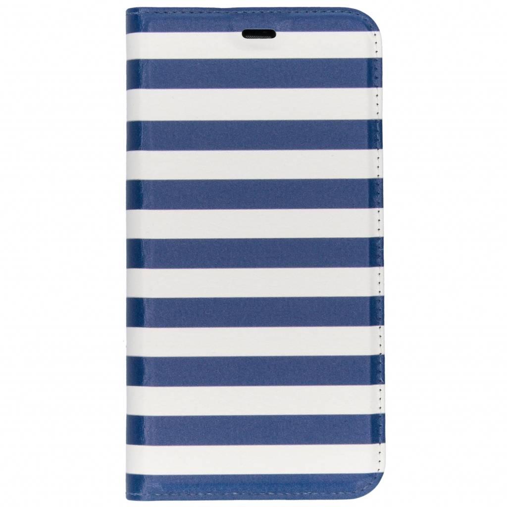 Stripes Blue Design TPU Bookcase voor de Huawei P Smart