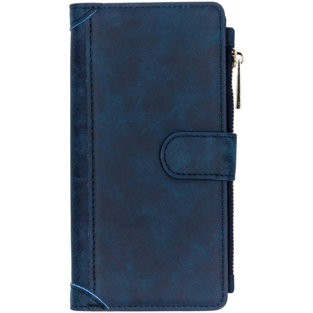 Blauwe luxe portemonnee hoes voor de Samsung Galaxy J6 Plus