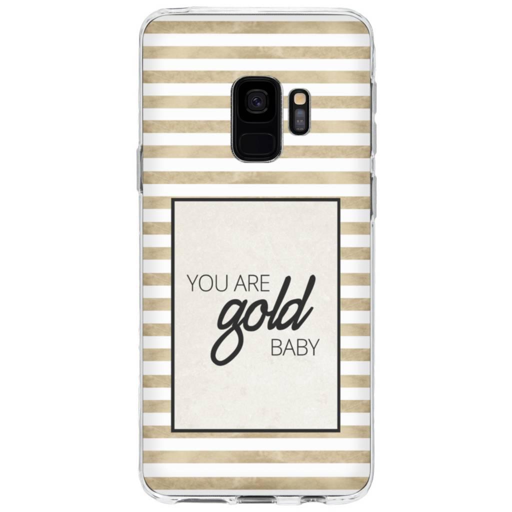 Gold Baby design siliconen hoesje voor de Samsung Galaxy S9