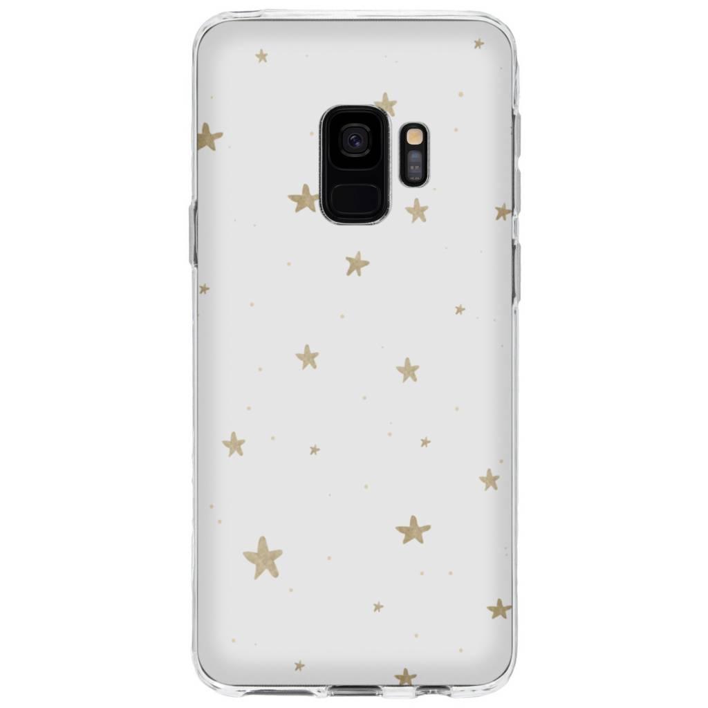Design Backcover voor Samsung Galaxy S9 - Gouden Sterren