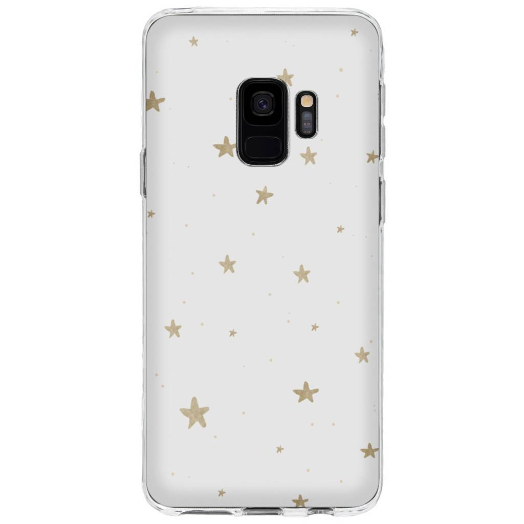 Gouden Sterren design siliconen hoesje voor de Samsung Galaxy S9