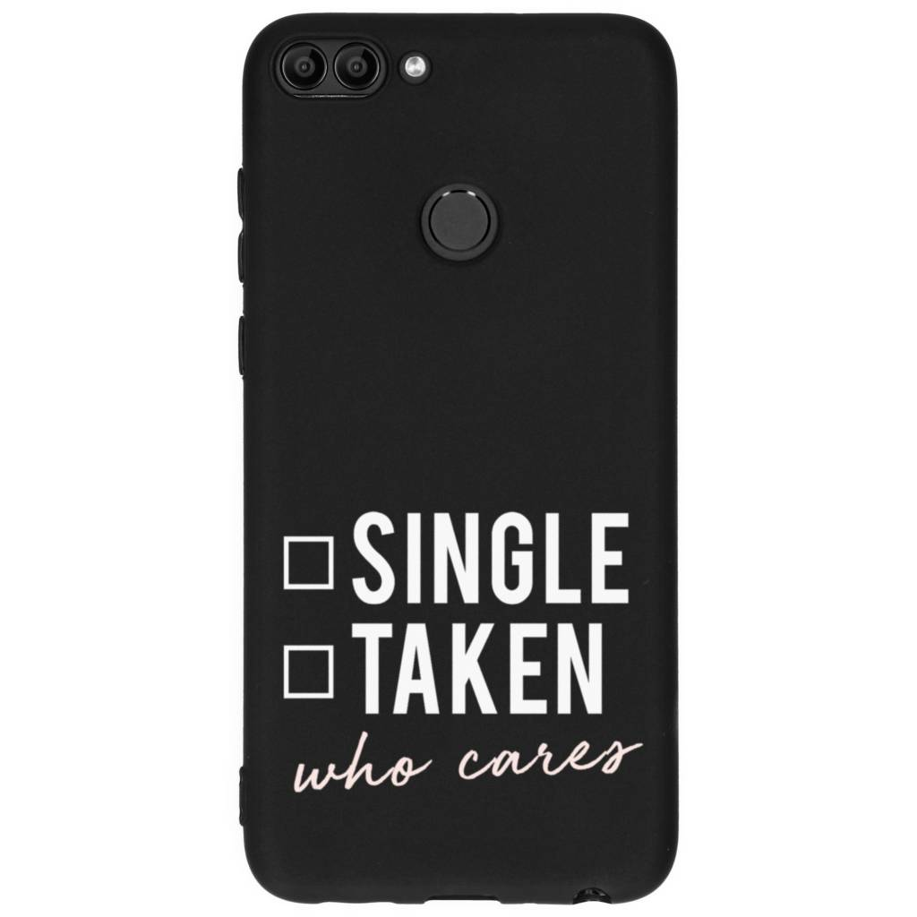 Design Backcover Color voor Huawei P Smart - Who Cares