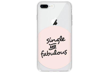 Design Backcover voor iPhone 8 Plus / 7 Plus - Quote