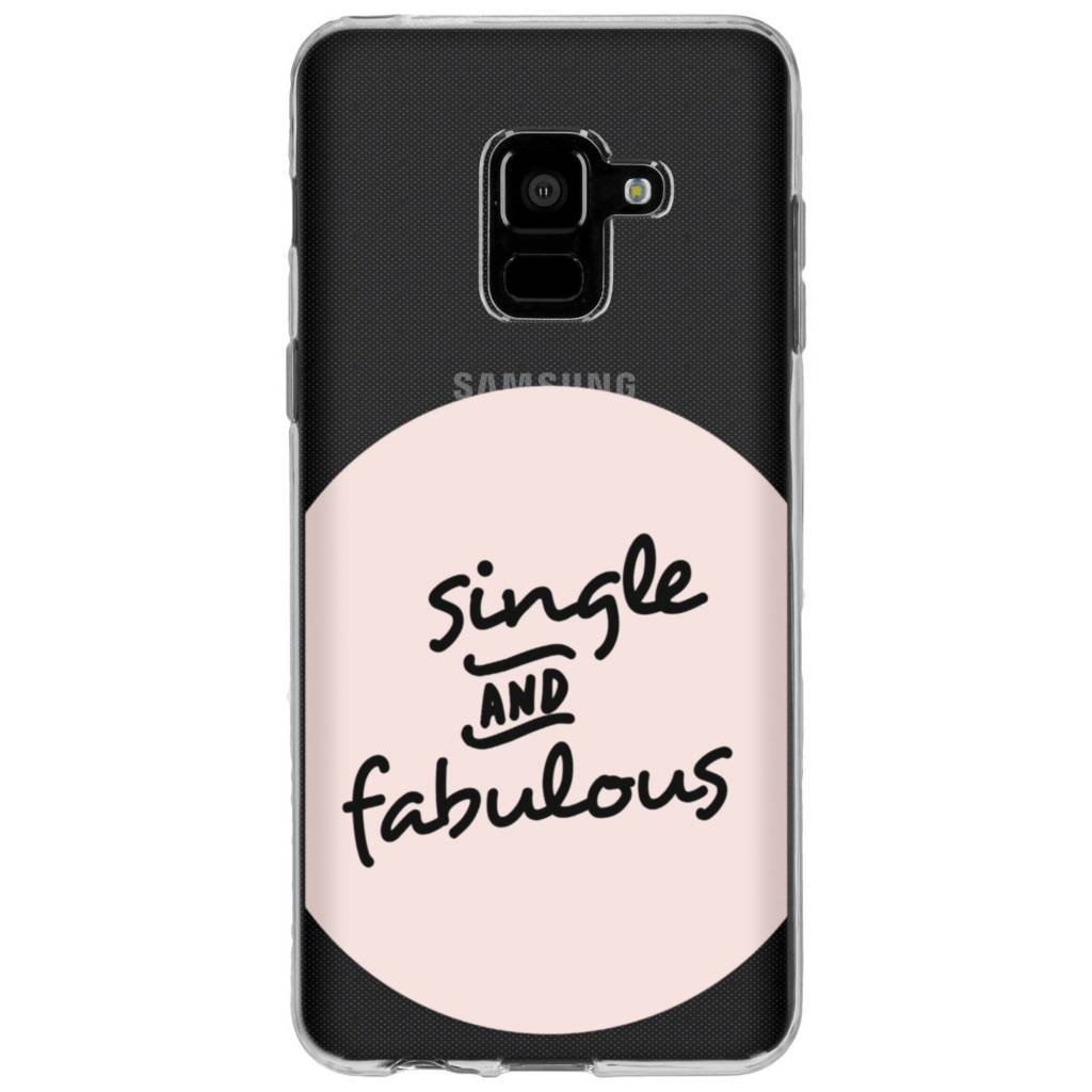 Fabulous design siliconen hoesje voor Samsung Galaxy A8 (2018)