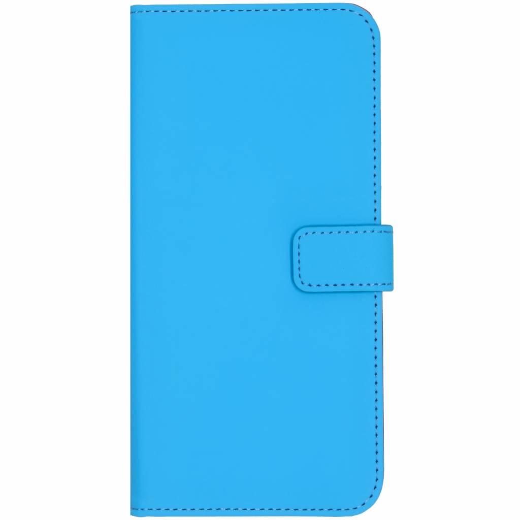 Selencia Blauwe Luxe TPU Book Case voor de Samsung Galaxy J6 Plus