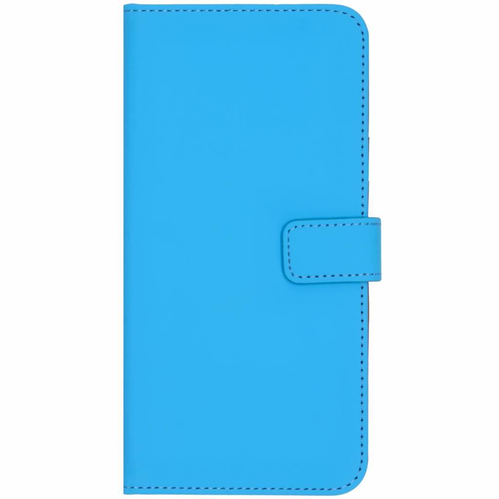 Selencia Luxe Softcase Booktype voor Samsung Galaxy A7 (2018) - Blauw