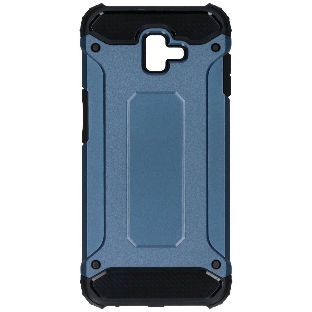Blauwe Rugged Xtreme Case voor de Samsung Galaxy J6 Plus