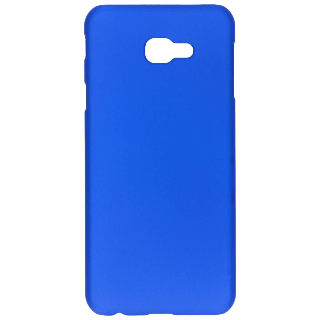Blauw effen hardcase hoesje voor de Samsung Galaxy J4 PLus