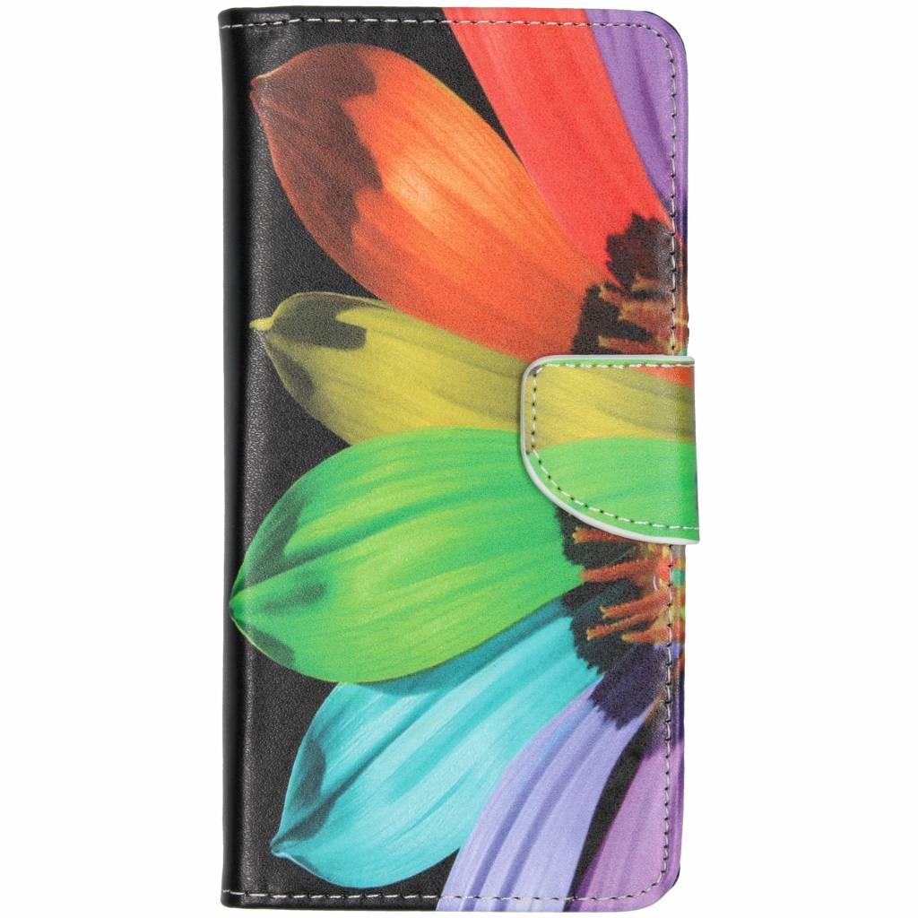 Regenboog design TPU booktype hoes voor de Huawei Mate 20 Lite