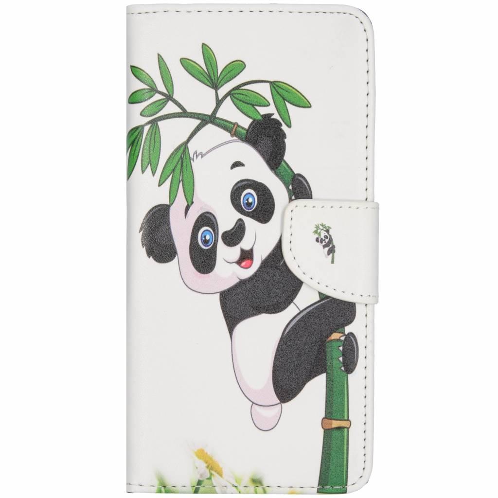 Panda in boom design TPU booktype hoes voor de Huawei Mate 20 Lite