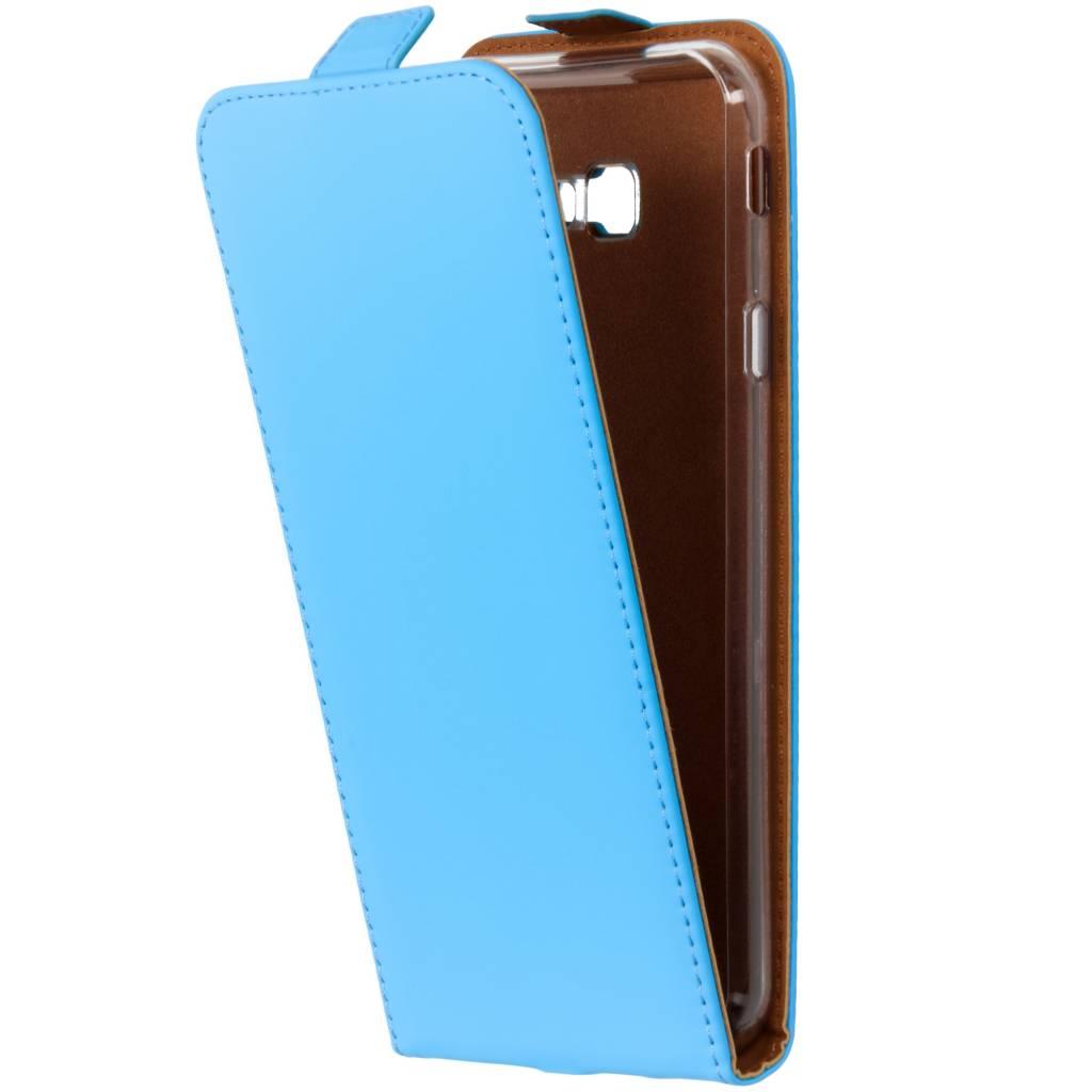 Selencia Blauwe Luxe TPU Flipcase voor de Samsung Galaxy J4 Plus