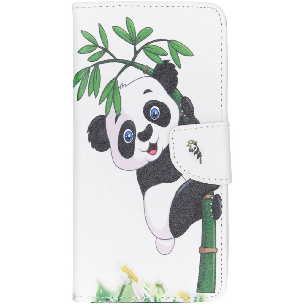 Panda in boom design TPU booktype hoes voor de Huawei P Smart Plus