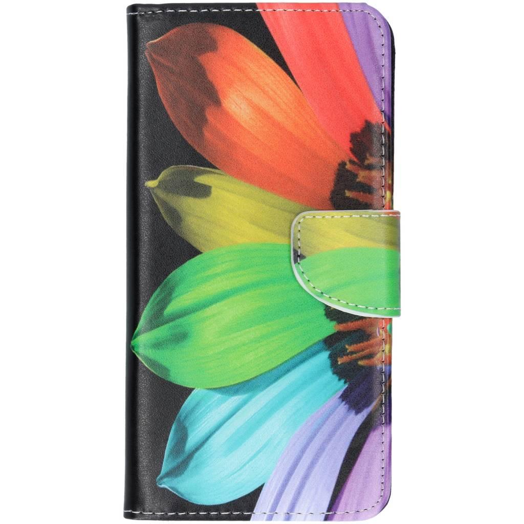 Regenboog design TPU booktype hoes voor de Huawei P Smart Plus