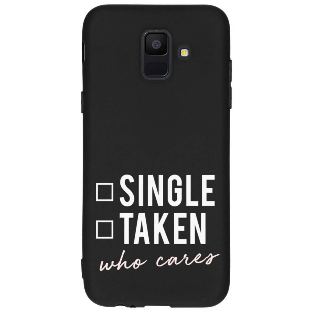Design Backcover Color voor Samsung Galaxy A6 (2018) - Who Cares